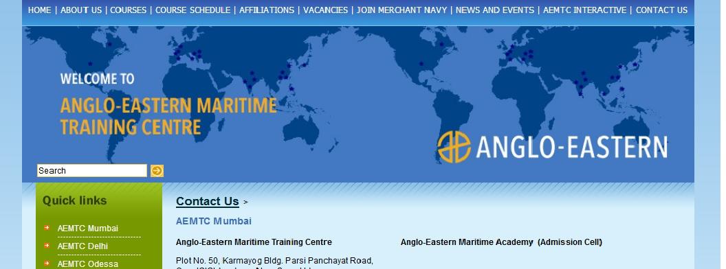 Anglo-Eastern Maritime Academy Customer Mumbai Toll Free