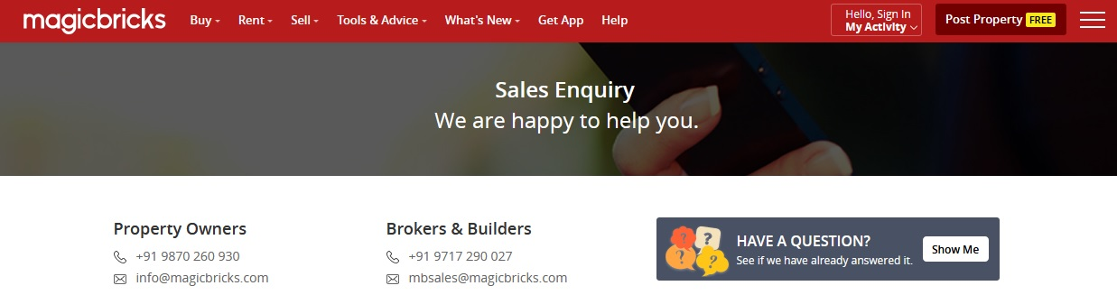 Magicbricks Realty Services Noida Customer Contact Number